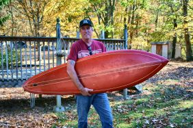 Here I am with my board from 1975 taken in my Tn backyard last year.