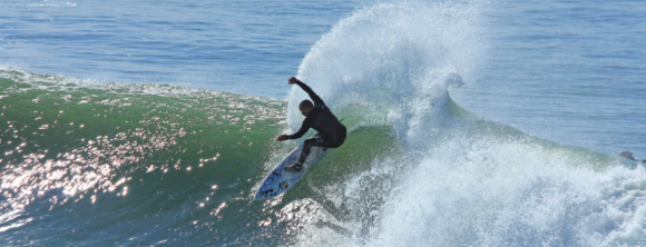 MIke Swartz from Pismo Beach is one of the top surfers in town