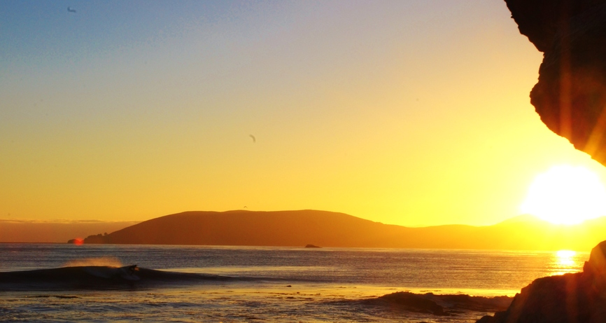 Shell Beach Sunset Wave Left Beautiful Surfing Iconic