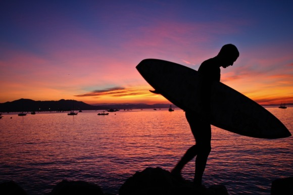 Surfwanderer Shawn Tracht on an Early Morning Search for Waves
