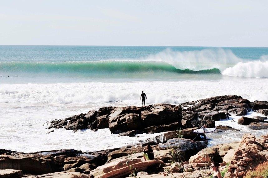 Sole surfer waits