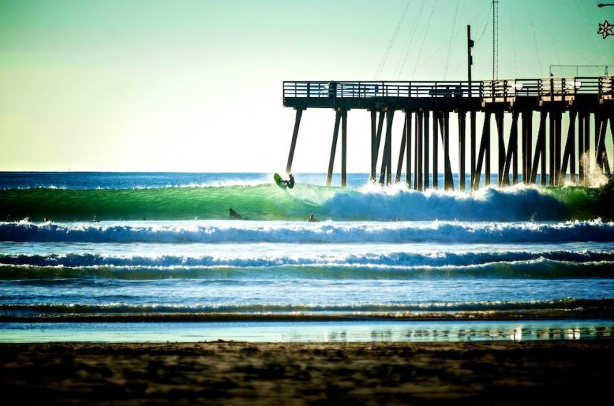 Wintertime in Pismo Beach-Photo: Scott Smith Surfer: Tracht