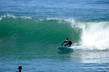 Jeff Scardine 5 feet of fury displacement sled surfboard in DEEP Magazine