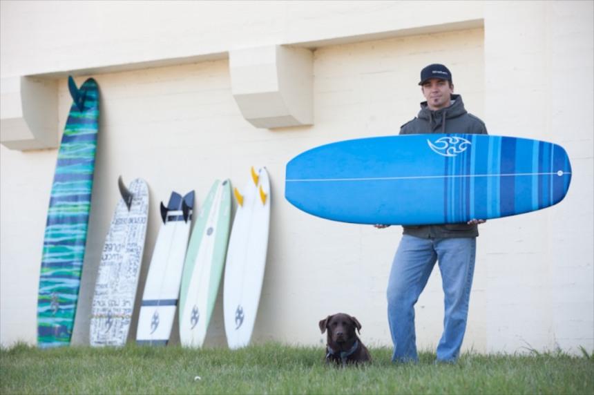Jason Kline with his Mini Sims HP  Photo: Paul Greene