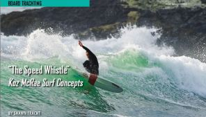 Koz McRae Speed Whistle Single Fin Surfboard - Shawn Tracht